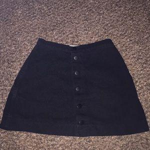 American Apparel Jeans Button Down Black Skirt 🖤